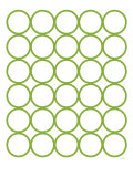 Green Circles Prints by Avalisa 