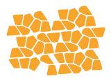 Orange Giraffe Spots Posters par  Avalisa