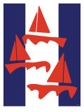 Red Sailboats Posters by  Avalisa