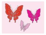 Papillon rose Posters par  Avalisa