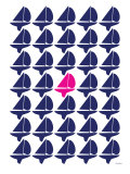 Navy Pink Regatta Posters by  Avalisa