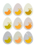 Modern Egg Hatching Posters by Avalisa 