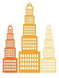 Orange Skyscrapers2 Posters par  Avalisa