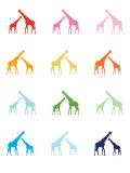 Rainbow Giraffes Premium Giclee-trykk av  Avalisa