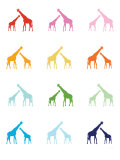 Rainbow Giraffes Posters by  Avalisa