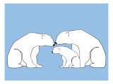 Blue Polar Bears Posters by  Avalisa
