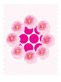 Pink Wreath Poster par  Avalisa