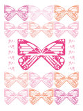 Pink Butterfly Patch Poster by  Avalisa