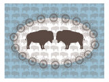 Blue Buffalo Belt Buckle Poster by  Avalisa