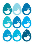 Blue Egg Hatching Affiche par  Avalisa