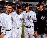 Jorge Posada, Mariano Rivera, Derek Jeter,& Andy Pettitte Final Game At Yankee Stadium 2008 Fotografía
