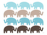 Brown Elephant Family Posters by  Avalisa