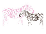 Pink Zebra Art Print by  Avalisa