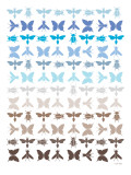Blue Insects Posters by  Avalisa