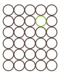 Brown Green Circles Print by  Avalisa