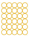 Yellow Circles Print by  Avalisa