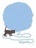 Blue Ball of Yarn Posters par  Avalisa