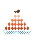 Orange Nest Art by  Avalisa