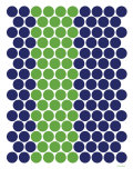 Blue Green Dots Poster by  Avalisa
