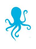 Blue Octopus Premium giclée print van  Avalisa