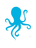 Blue Octopus Posters by  Avalisa