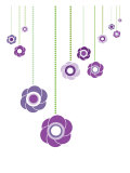 Purple Hanging Flowers Art Print by  Avalisa