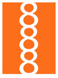 Orange Figure 8 Design Posters par Avalisa