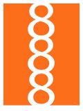 Orange Figure 8 Design Posters af  Avalisa