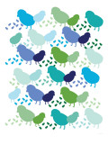 Cool Chick Pattern Affiche par  Avalisa