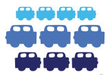 Blue Cars Posters by  Avalisa
