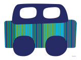 Blue Stripe Car Poster by Avalisa 