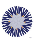Blue Lilly Hat Poster by  Avalisa
