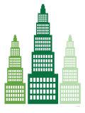 Green Skyscrapers Reproduction giclée Premium par  Avalisa