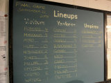 New York Yankee Stadium Finale Line Up, New York, NY Photographic Print