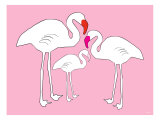 Pink Flamingo Print by  Avalisa