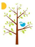 Blue Songbird Posters par  Avalisa