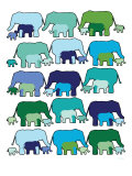 Cool Elephant Pattern Posters by  Avalisa