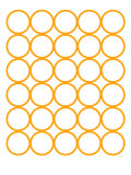 Orange Circles Art Print by  Avalisa