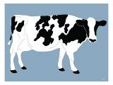 Blue Dairy Cow Poster par  Avalisa