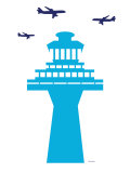 Blue Traffic Tower Posters par  Avalisa