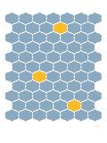 Blue Orange Trellis Poster von  Avalisa