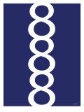 Navy Figure 8 Design Poster av  Avalisa