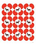 Red Deer Hoof Poster par  Avalisa