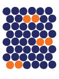 Orange Dots Affiche par Avalisa