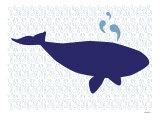 Ballena azul Poster por Avalisa