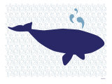 Blue Whale Art Print by  Avalisa