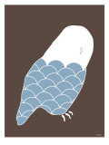 Blue Owl Print by Avalisa