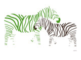 Green Zebra Art Print by  Avalisa