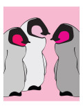 Pink Baby Penguins Posters by  Avalisa