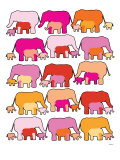 Warm Elephants Posters par  Avalisa
